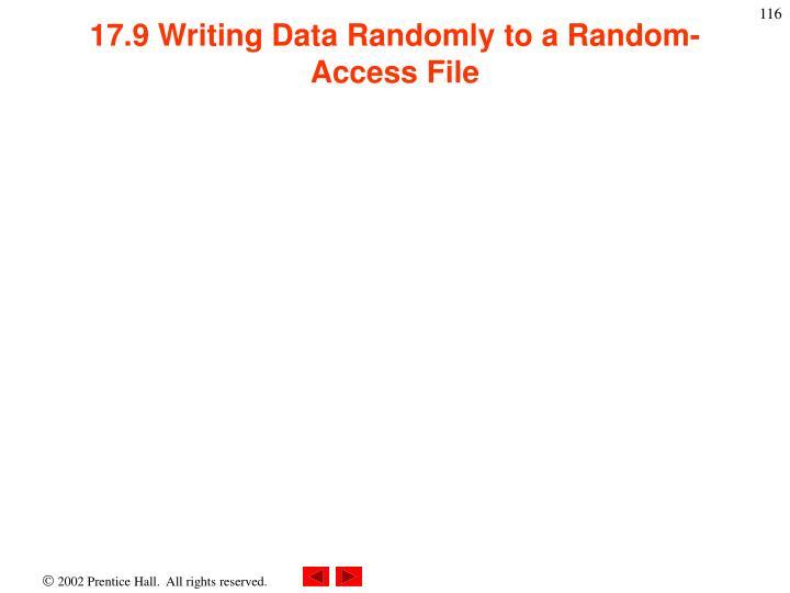 17.9 Writing Data Randomly to a Random-Access File
