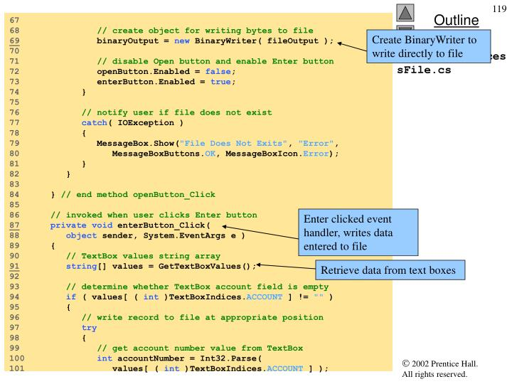 Create BinaryWriter to write directly to file
