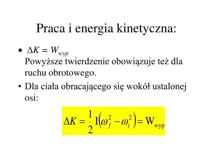 Praca i energia kinetyczna