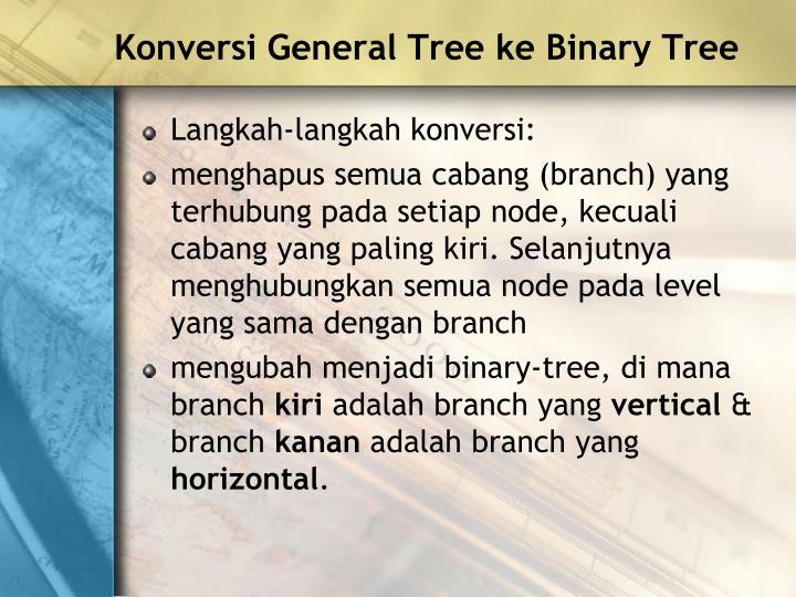 Konversi General Tree ke Binary Tree