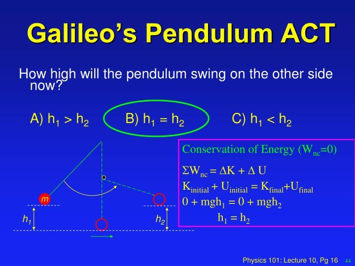 Galileo's Pendulum ACT