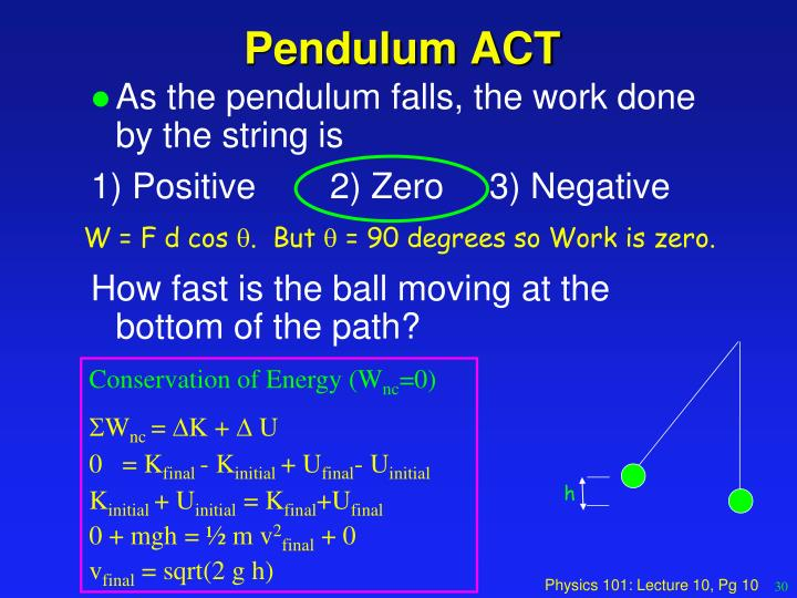 Pendulum ACT