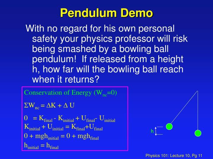 Pendulum Demo