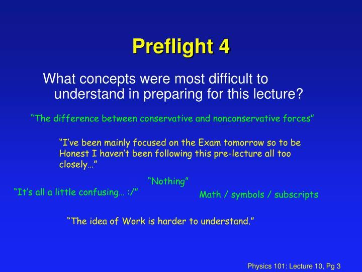 Preflight 4