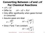 converting between e and h for chemical reactions