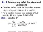 ex 7 calculating g at nonstandard conditions