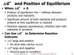g and position of equilibrium1
