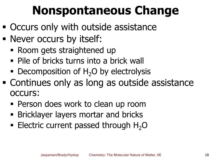 Nonspontaneous Change