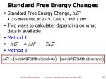 standard free energy changes
