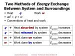 two methods of energy exchange between system and surroundings