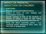 impact of parental abduction on children