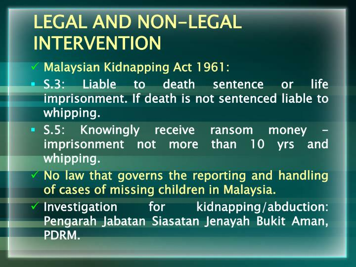 LEGAL AND NON-LEGAL INTERVENTION
