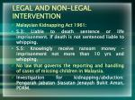 legal and non legal intervention