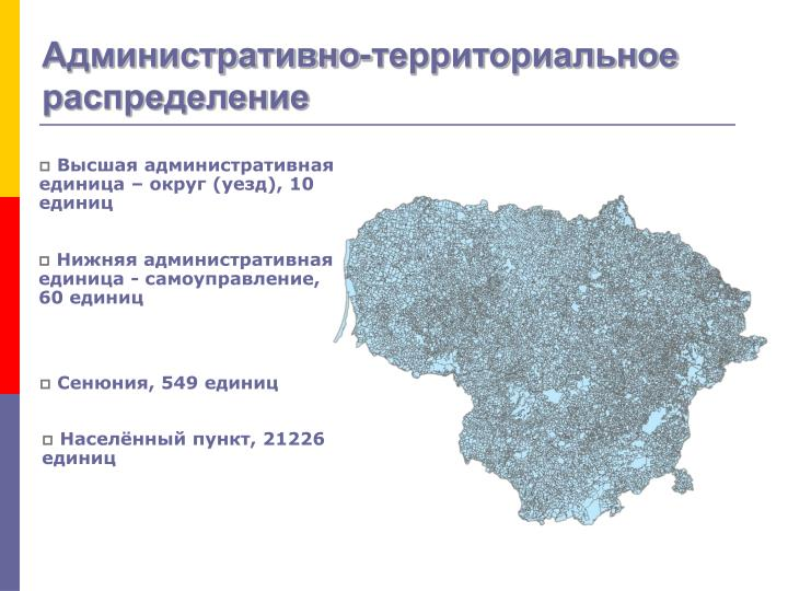 Административно-территориальное распределение
