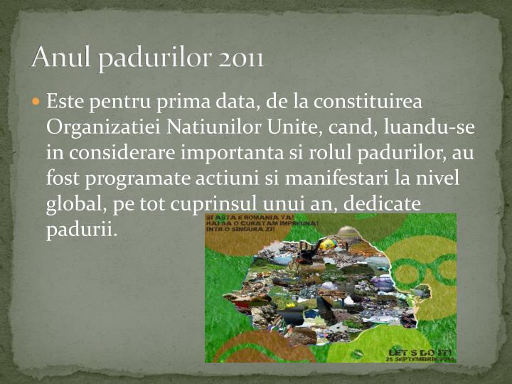 Anul padurilor 2011