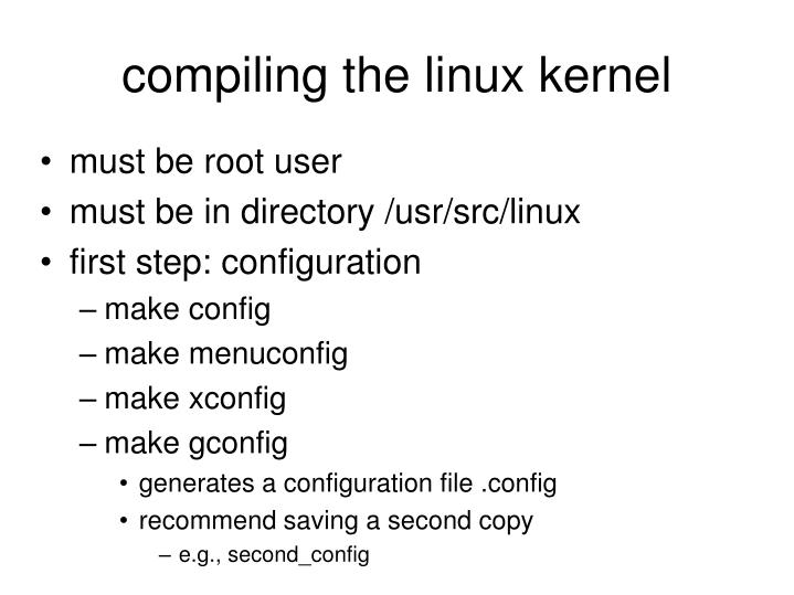 compiling the linux kernel