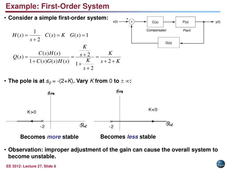 Example: First-Order System