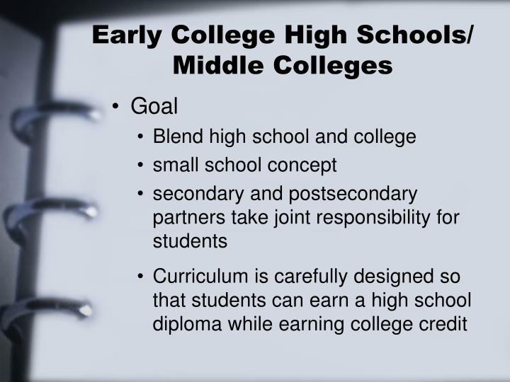 Early College High Schools/