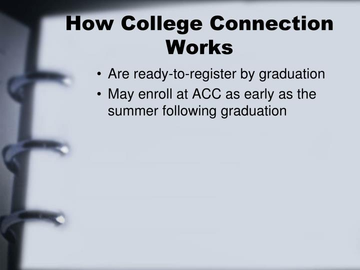 How College Connection Works