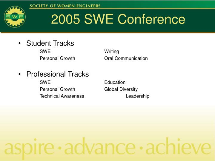 2005 SWE Conference