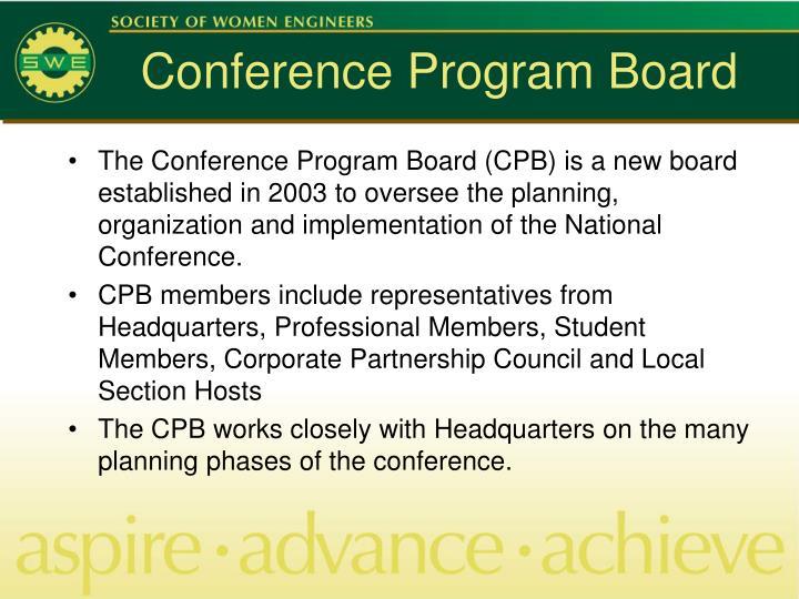 Conference Program Board