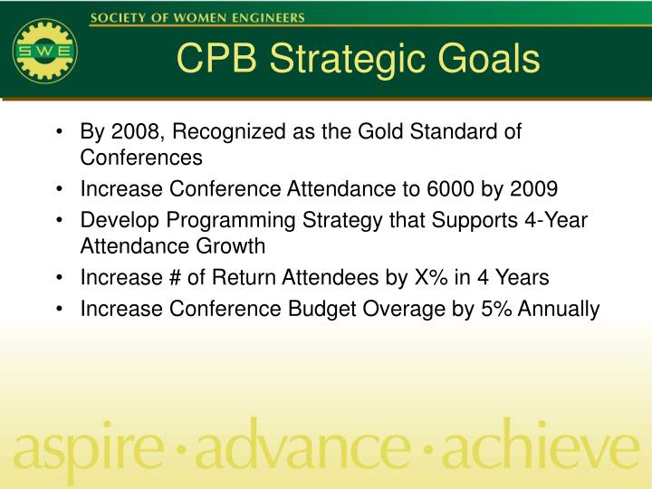CPB Strategic Goals