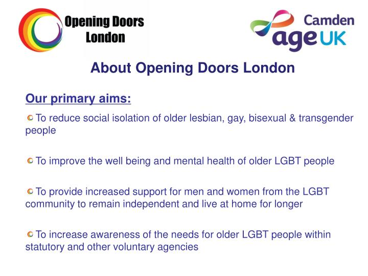 About Opening Doors London