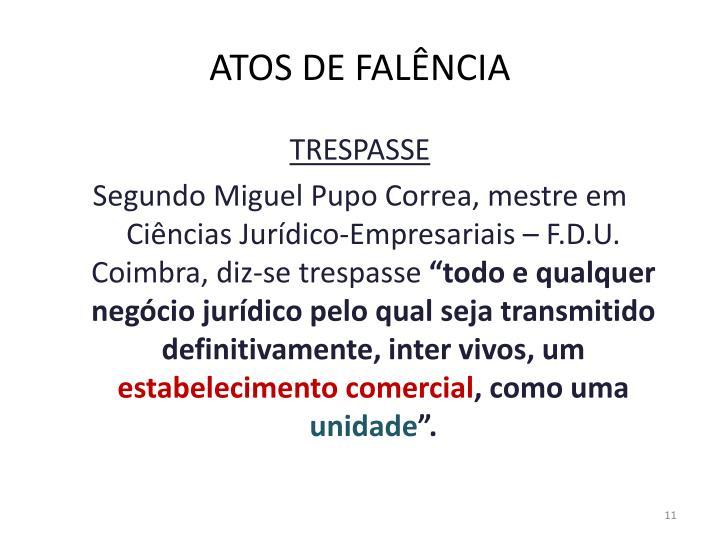 ATOS DE FALÊNCIA