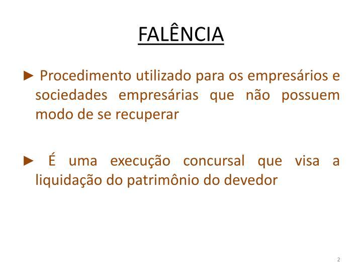 FALÊNCIA