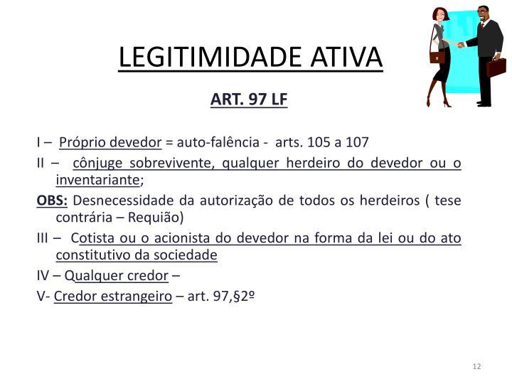 LEGITIMIDADE ATIVA