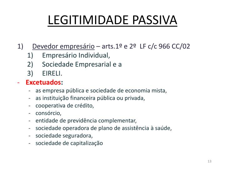 LEGITIMIDADE PASSIVA