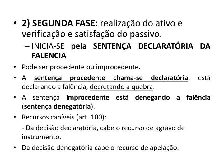 2) SEGUNDA FASE: