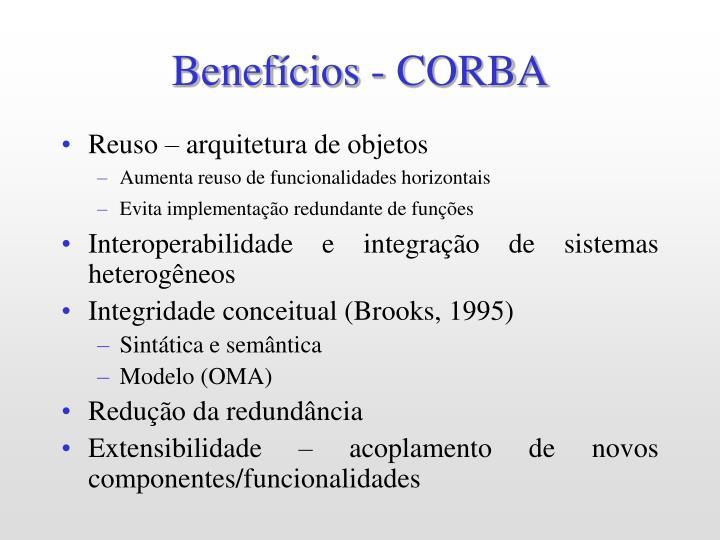Benefícios - CORBA