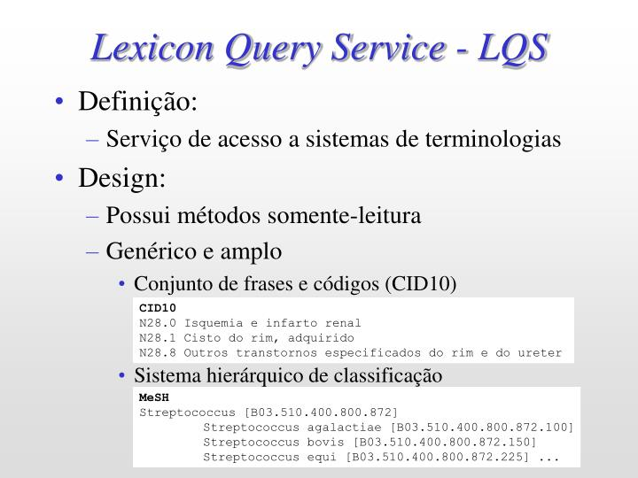 Lexicon Query Service - LQS
