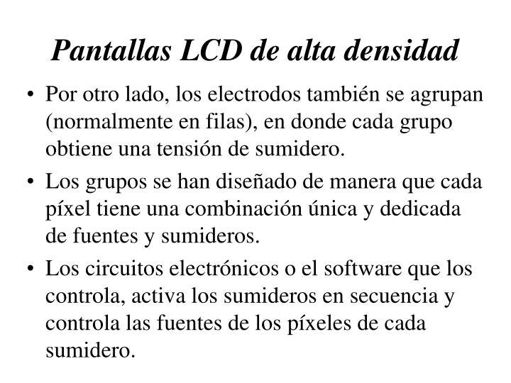 Pantallas LCD de alta densidad