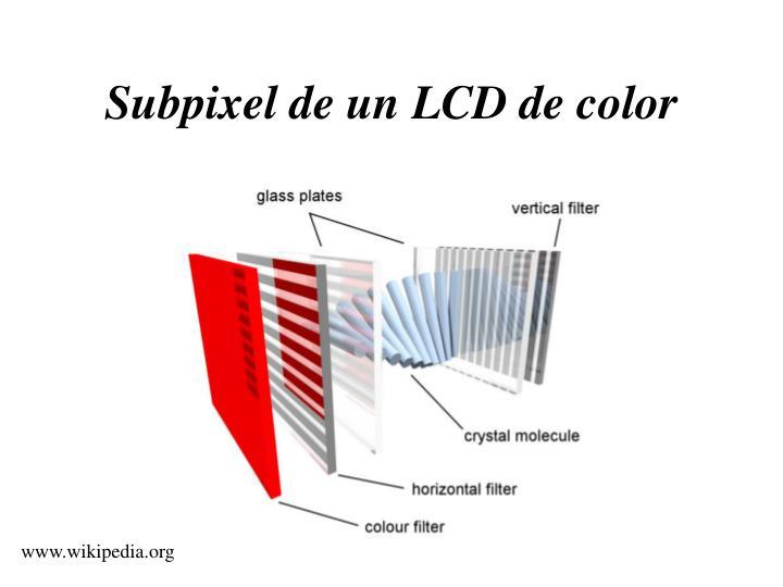 Subpixel de un LCD de color