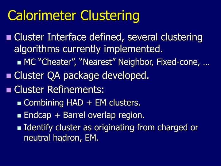 Calorimeter Clustering