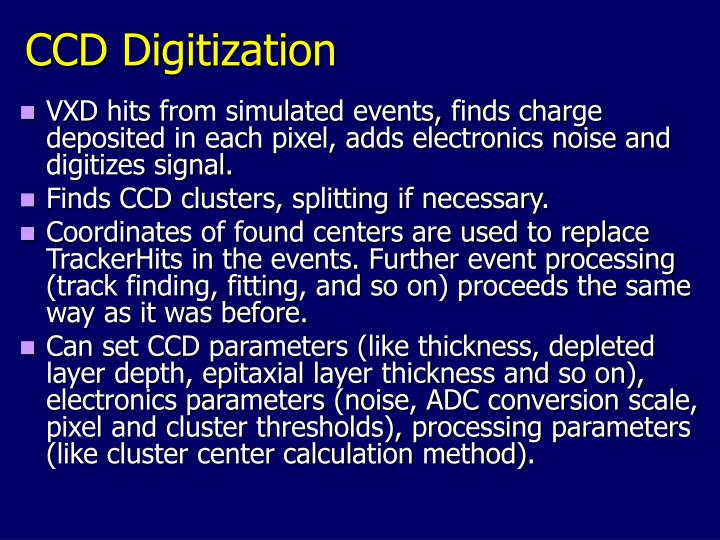 CCD Digitization