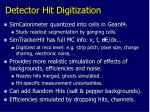 detector hit digitization