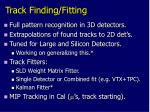 track finding fitting