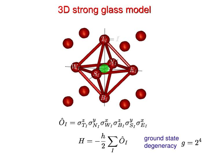 3D strong glass model