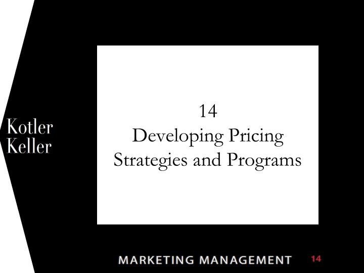 14 developing pricing strategies and programs
