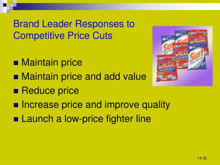 Brand Leader Responses to