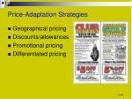 price adaptation strategies