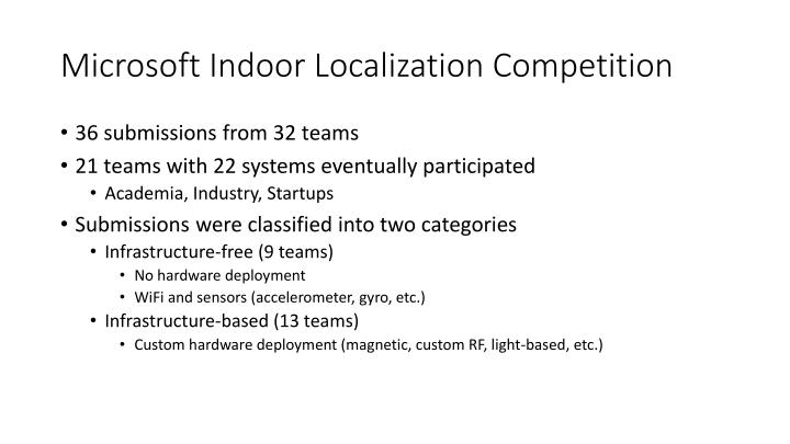 Microsoft indoor localization competition