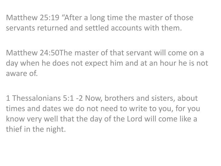 Matthew 25:19