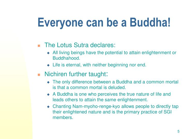 Everyone can be a Buddha!
