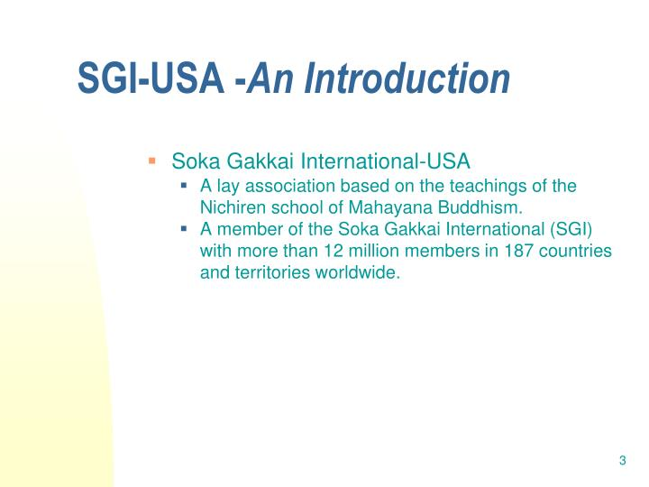 Sgi usa an introduction