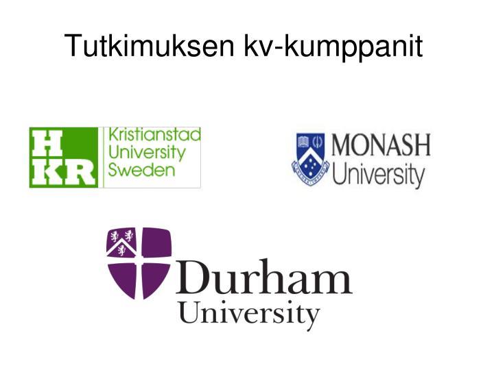 Tutkimuksen kv-kumppanit
