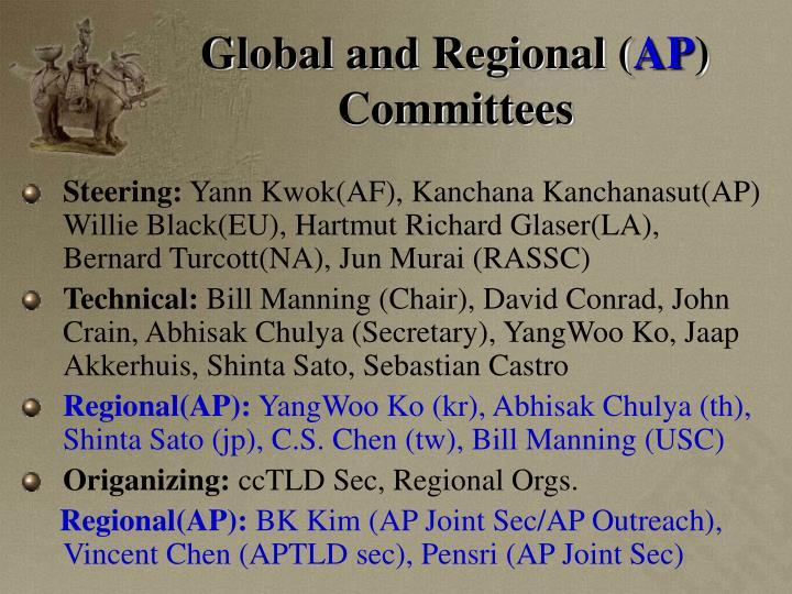 Global and Regional (